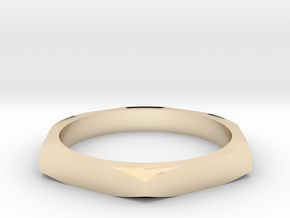 nut ring size 9.5 in 14k Gold Plated Brass