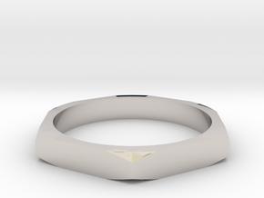 nut ring size 15 in Platinum