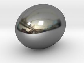 golden egg cabochon in Fine Detail Polished Silver