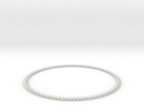 Necklace 2019 rounded in White Natural Versatile Plastic