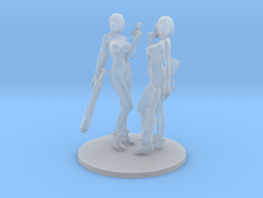 1/48 Sci-Fi Girls Anzu w Pistols and Rifles in Smooth Fine Detail Plastic