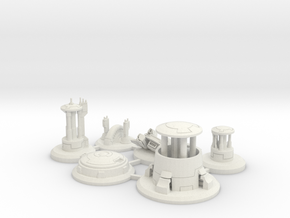 Thematic Capture Point Collection in White Natural Versatile Plastic