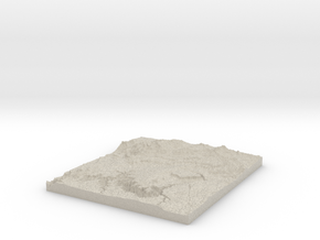 Model of Wittis Gravel Pit in Natural Sandstone