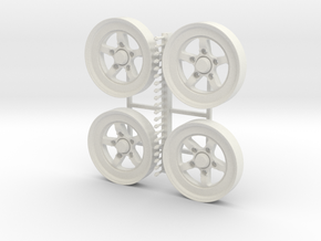 S71 Wheels #3 in White Natural Versatile Plastic
