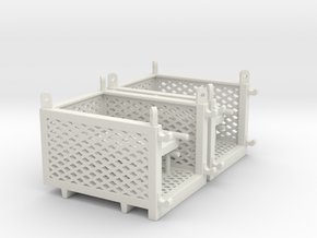 cargo basket 5x4x3 ft.- movable door - 1:50 - 2X in White Natural Versatile Plastic