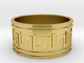 Bracelet in Polished Brass