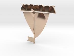 Boat Pendant in 14k Rose Gold