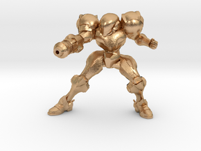 Metroid Samus 1/60 miniature for scifi games rpg 2 in Natural Bronze