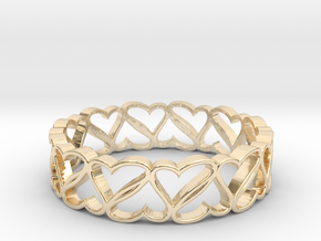 Rotating Hearts in 14K Yellow Gold: 6 / 51.5