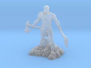 Kratos god of war ps4 miniature for fantasy games in Smooth Fine Detail Plastic