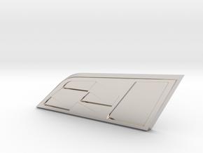 Leon Cupra Badge 35mm (Medium) in Platinum