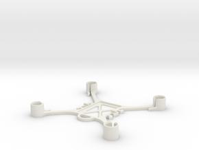 Mini FPV quadcopter frame in White Natural Versatile Plastic