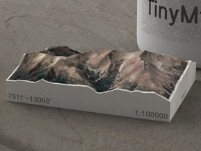 Wheeler Peak, Nevada, USA, 1:100000 in Natural Full Color Sandstone