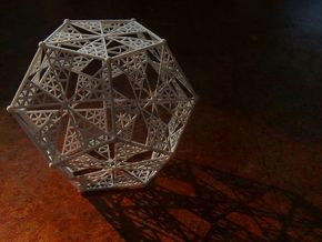 10 cm Dodecahedron in White Strong & Flexible