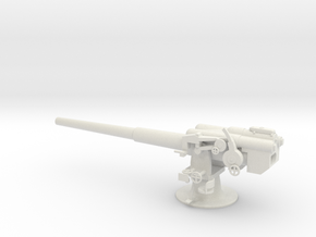 1/48 IJN Type 11 140mm Naval Gun in White Natural Versatile Plastic