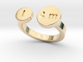 I Am Ring - Small in 14k Gold Plated Brass: 5 / 49