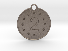 Medaille Silver in Polished Bronzed-Silver Steel
