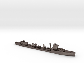 HMS Vega 1:1800 WW2 naval destroyer in Polished Bronzed-Silver Steel
