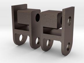 Scalemonkey Shackle reversal kit for RC4WD Trailfi in Polished Bronzed-Silver Steel