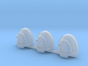 Eagle Head Gravus Shoulder Pads x3 L in Smooth Fine Detail Plastic