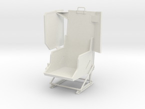 Roban 800 UH-1 Pilot Seat  in White Natural Versatile Plastic
