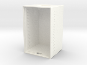 123001380-B Case Top, Tall, No Antenna Hole, Vents in White Processed Versatile Plastic