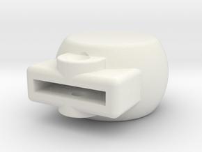 HFP-101018 Airscrew Control Lever Knob in White Natural Versatile Plastic
