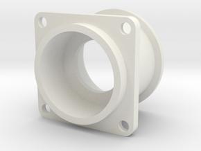 08.02.09.03.01 Pushbutton Holder in White Natural Versatile Plastic