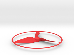 """Drone Propeller - 5"""" CCW Pusher With Rim in Red Processed Versatile Plastic"""