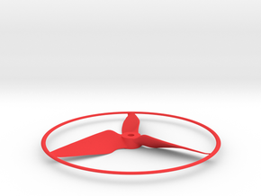"""Drone Propeller - 5"""" CW Puller With Rim in Red Processed Versatile Plastic"""