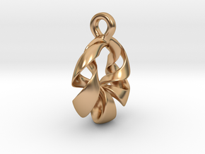 Torus Pendant Type A in Polished Bronze: Small