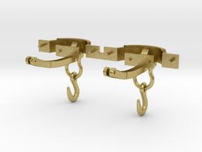 CPL05 Oakley Gunpowder Van Couplings SM32 in Natural Brass (Interlocking Parts)