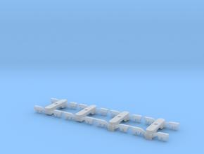 1/120 2xDrehgestell mit Stromabnehmer, 2xDrehgeste in Smooth Fine Detail Plastic
