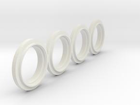 Felgenringe Kramer1014  MB Trac 1100 Reifen in White Natural Versatile Plastic