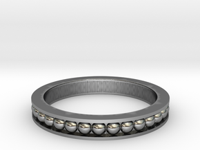 Beaded Band in Antique Silver