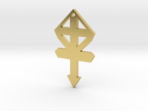 gmtrx f110 cross symbol 1 in Polished Brass