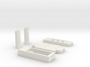 Losi  mini crawler Parts Wide in White Natural Versatile Plastic