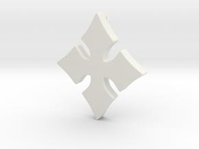Cosplay Charm - Cross in White Natural Versatile Plastic