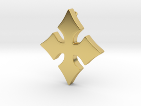 Cosplay Charm - Cross in Polished Brass