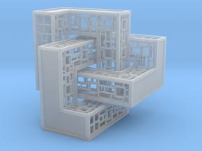 Trefoil Knot Castle in Smooth Fine Detail Plastic