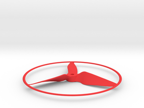 "Drone Propeller - 5"" CCW Puller With Rim in Red Processed Versatile Plastic"