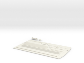 Traxxas TRX4 79 Bronco door panel  (DRIVER) in White Natural Versatile Plastic