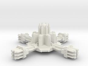Navy Torpedo Station in White Natural Versatile Plastic