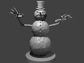 Evil Snowman in Smooth Fine Detail Plastic