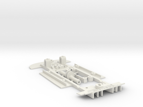 Chassis for classic Scalextrc 3.0L CSL (C128) in White Natural Versatile Plastic