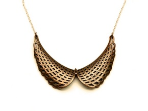 Collar Necklace (Mesh Edition) in Polished Bronzed Silver Steel
