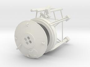 1/50th Custom sized Concrete Cement Silo in White Natural Versatile Plastic