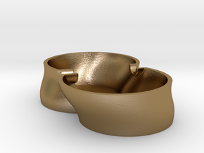 """Ashtray """"King size"""" in Polished Gold Steel"""