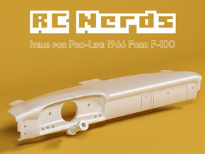 RCN209 Dashboard for Ford F100 1966 in White Natural Versatile Plastic