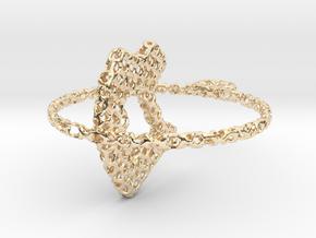 voronoi yoga pendant/earring in 14K Yellow Gold